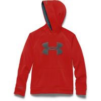 Under Armour Boys Youth Ua Storm Armour Fleece Big Logo Hoodie - Greenhead