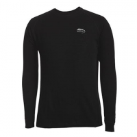 M T Mountaineering Mens Poly Mid Weight Thermal Base Layer Crew Top - Black