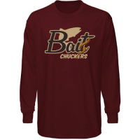Graphic Imprints Mens Bait Chuckers Worm Logo L / S Tee - Maroon