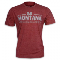Blue 84 Mens University Of Montana ` Um ` Armguard Triblend S / S Tee - Maroon