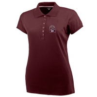 Antigua Women's U Of M Griz Paw Spark S / S Polo - Maroon