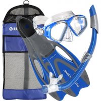 Us Divers Anacapa Lx / Sonora / Trek Snorkel Set - Electric Blue