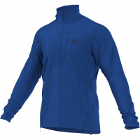 Adidas Outdoor Mens Hiking Reachout Pullover Half Zip - Blue Beauty