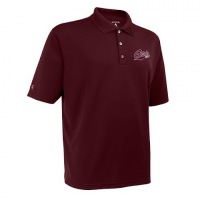 Antigua Mens U Of M Griz Exceed S / S Polo - Maroon