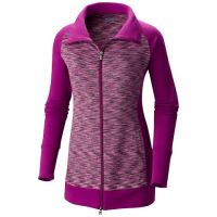 Columbia Women's Outerspaced Hybrid Long Full Zip Jacket - Plum