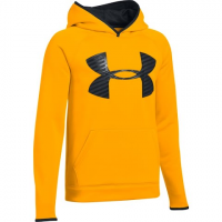 Under Armour Youth Boy's Ua Storm Armour Fleece Highight Big Logo Hoodie - Steeltown Gold