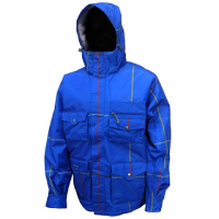 Precision Mountain Mens Rapture Snowboarding Jacket - Blue Plaid