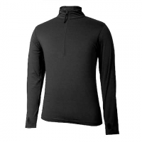 Terramar Mens 1 / 2 Zip Thermolator Ii Top - Black