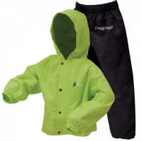 Frogg Toggs Youth Polly Wogg Rain Suit - Safety Green / Black