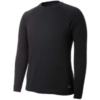 Terramar Mens 2 Layer Authentic Thermal Crew - Black