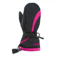 Hot Fingers Women's Chute Mittens - Black / Magenta