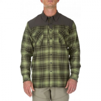 5 . 11 Tactical Men's Sidewinder Flannel Shirt - Mosstone