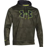 Under Armour Mens Ua Storm Armour Fleece Big Logo Printed Hoodie - Marine Od Green