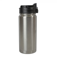 Eco Vessel Perk Triple Insulated 16 Oz Mug With Push Button Top - Silver Express
