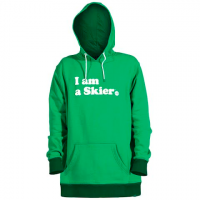 Line Skis Mens I Am A Skier Hoodie - Kelly Green