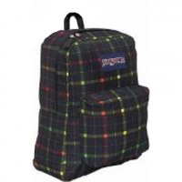 Jansport Big Student Day Pack ( 2012 ) - Rasta London Plaid