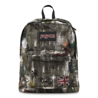Jansport Black Label Superbreak Day Pack - Grey Grunge Denim