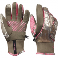Hot Shot Women's Doe Fleece Gloves - Realtree Xtra / Pink