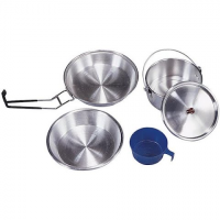 Stansport 1 Person Polished Aluminum Mess Kit
