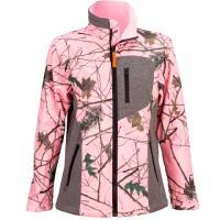 Trail Crest Women's Custom Xrg Soft Shell Jacket - Pink Forrest / Grey
