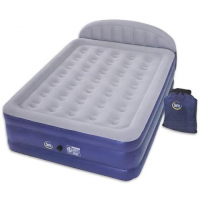 Exxel Outdoors Serta 18 - Inch Raised Queen Airbed With Headboard Inflatable Mattress