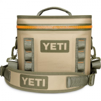 Yeti Coolers Hopper Flip 8 Soft Cooler - Field Tan / Blaze Orange