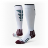 Red Lion Boost Performance Soccer Over The Calf Socks - White / Maroon