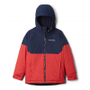 Columbia Youth Boys Alpine Action Ii Jacket - Mountain Red Heather / Collegiate Navy