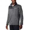 Columbia Men ' S Canyon Point Sweater Fleece Full Zip - City Grey / Shark