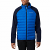Columbia Men ' S Lake 22 Hybrid Down Jacket - 463azureblue