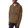 Columbia Men ' S Rugged Ridge Sherpa Pullover Hoodie - Olive Green / Black