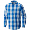 Columbia Men ' S Out And Back Ii L / S Shirt - Azure