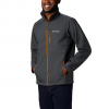 Columbia Men ' S Ascender Softshell Jacket ( Tall ) - Shark