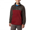 Columbia Men ' S Steens Mountain Half Zip Fleece - Buffalo / Red Jasper