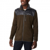 Columbia Men ' S Canyon Point Sweater Fleece Full Zip - Olive Green / Shark