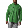 Columbia Men ' S Bahama Ii Long Sleeve Shirt ( Extended Sizes ) - Clean Green