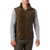 Columbia Men ' S Steens Mountain Fleece Vest - Olive Green / Black