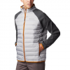 Columbia Men ' S Lake 22 Hybrid Down Jacket - Columbia Grey / Shark