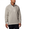 Columbia Men ' S Canyon Point Sweater Fleece Half Zip - Dark Stone