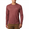Columbia Men ' S Thistledown Park Long Sleeve Crew Neck Shirt ( Tall ) - 664redjasper