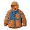 Columbia Boy ' S Youth Casual Slopes Jacket - Canyon Gold Heather / Blue Heron Heather