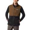Columbia Men ' S Basin Trail Fleece Vest - Black / Olive Brown