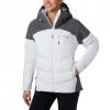 Columbia Women ' S Powder Keg Ii Down Jacket - White / Cirrus Gray