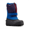 Columbia Youth Powderbug Plus Ii Winter Boot - Shark / Bright Red