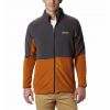 Columbia Men ' S Basin Trail Fleece Full Zip Jacket ( Tall Sizes ) - Burnished Amber