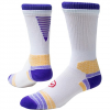 Red Lion Artillery Performance Football Crew Socks - White / Purple