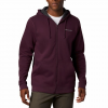 Columbia Men ' S Hart Mountain Full Zip Hoodie - Black Cherry Heather