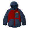 Columbia Boy ' S Youth Casual Slopes Jacket - Mountain Red Heather / Collegiate Navy Heather