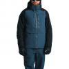 The North Face Men ' S Powder Guide Jacket - Blue Wing Teal / Tnf Black