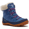 Columbia Youth Minx Shorty Omni - Heat Waterproof Winter Boot - Bluebell / Pink Ice